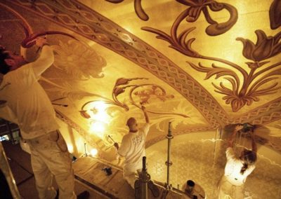 CSS artisans working on the ceiling. Photo: Eyd Kazery
