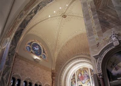 Faux stone and mosaic at the Basilica of Holy Hill, National Shrine of Mary, Help of Christians - Photo: Korom.com