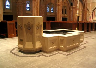 Baptismal font at Blessed Sacrament Church, Springfield, IL