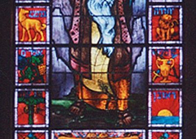 Conserved stained glass for Temple Emanuel
