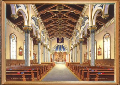 An artist's rendering conveys the vision for the restored interior