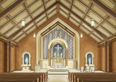CSS artist's rendering of the interior restoration