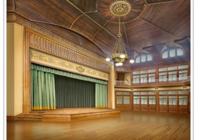 Interior rendering for Grand Hall