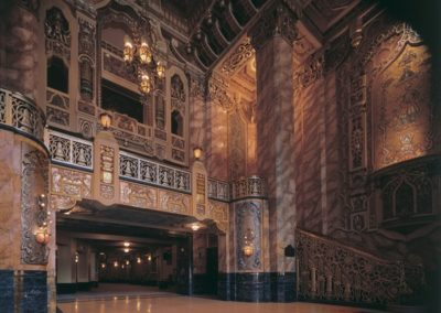 The ornate lobby of the Ford Center for the Perfoming Arts Oriental Theatre