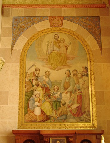 Mural at St. Mary Catholic Church - Photo: Br. Stephen Treat, O.Cist.