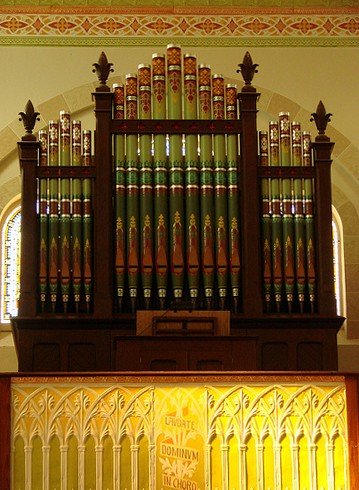 Pipe organ at St. Mary Catholic Church - Photo: Br. Stephen Treat, O.Cist.