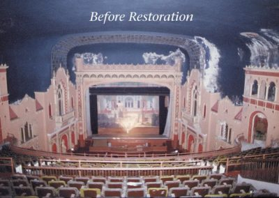 The state of the Paramount Theatre is quite apparent in this before image