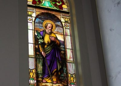 Restored stained glass window - Photo by Danny Izzo