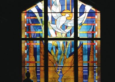 New contemporary stained glass for Greendale Community Church