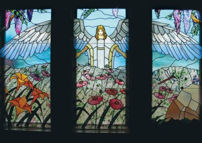 New stained glass for AngelsGrace Hospice, Oconomowoc, WI