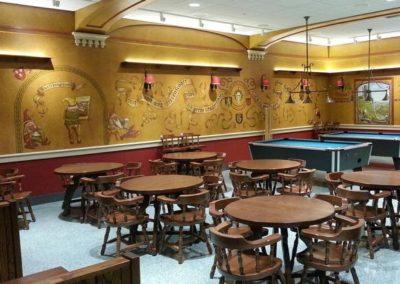Conrad Schmitt Studios rebuilt and replicated the murals, preserving the historic character of this unique cultural treasure.