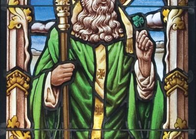 A new St. Patrick stained glass window for Duncan Hall at the University of Notre Dame