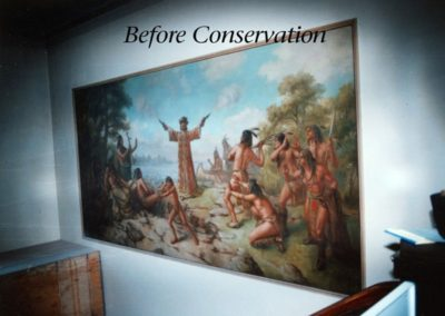 Before mural conservation