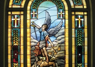 New traditionally styled stained glass window for St. Anne Catholic Church