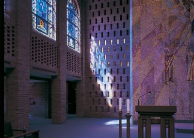 The clerestory windows display divine light on the Chapel altar