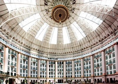 The atrium boasted the largest free-span dome in the world for sixty-one years