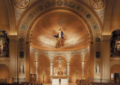 The completed mural in the newly restored apse