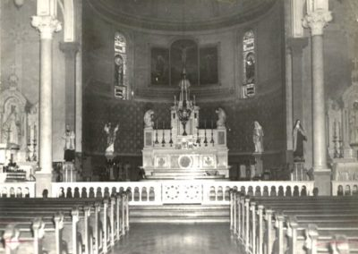 1950 historic photo of St. Mary Magdalen sanctuary