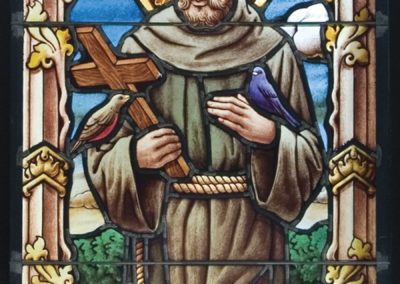 A new St. Francis stained glass window for Duncan Hall at the University of Notre Dame