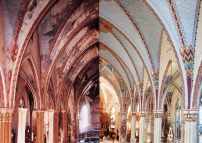 A before and after image superimposed side-by-side emphasizing the renewal