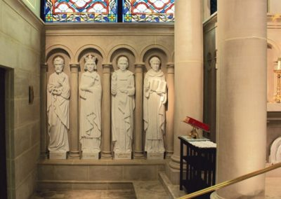 New carved stone statues for St. Louis Church - Photo by: Looney Ricks Kiss