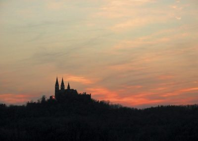 The highly recognized Holy Hill, visible for miles atop eastern Wisconsin's highest point