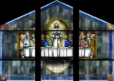 New stained glass for Our Lady of the Isle