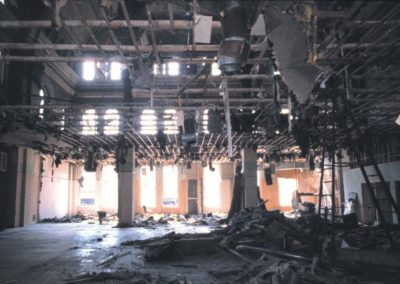 The Grain Exchange Room during demolition