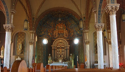 Restored interior for St. Joseph Catholic Church, Damar, Kansas
