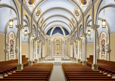 A CSS approved artist's rendering of the proposed restoration