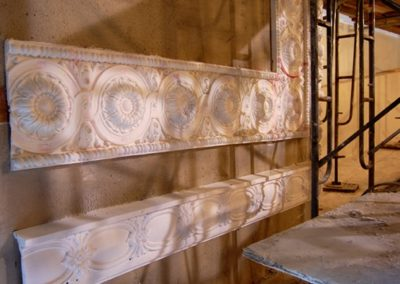New ornamental plaster was created from the original at the Mineral Point Opera House, Mineral Point, WI - Photo: Philip Mrozinski