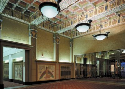 Lobby featuring gilded, glazed and painted surfaces