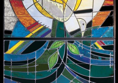 The center panel of five at River Terrace Church, East Lansing, MI - Photo: Greg Gent