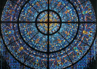"NEW STAINED GLASS - ""Sun of Splendor"" 22-foot diameter rose window"