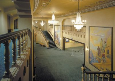 Stenciling, Gilding and Glazing - The Lensic Performing Arts Center lobby - Photo: Robert Reck
