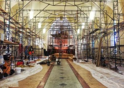 Scaffolding during restoration