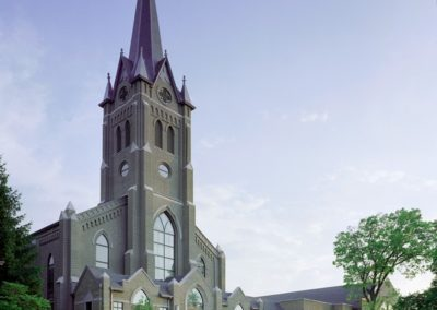 Exterior of The Cathedral of St. Mary of the Immaculate Conception