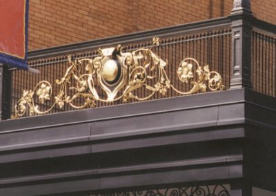 Gilding - Gilded exterior railing at the Pabst Theater