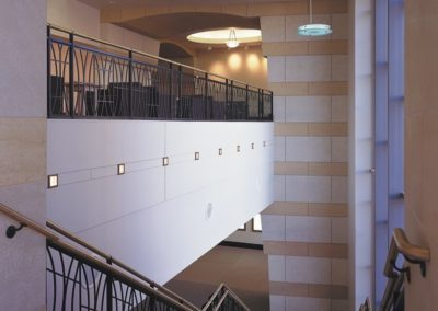 Stairwell to adjacent conference center