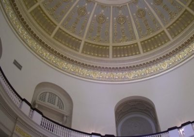 A view up at the completed restoration