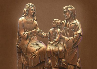 Rendering of the Holy Family