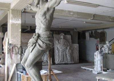 A clay model is an early step in the bronze statue process