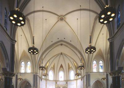 The completed Gesu Parish interior decoration