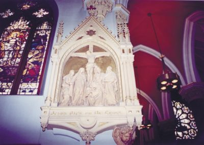 A before view of a Station of the Cross