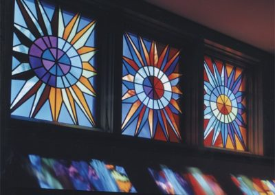New contemporary stained glass windows for St. Ann's Intergenerational Center