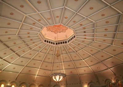 The restored domed ceiling for the Cook Theater - Photo courtesy of Indiana Landmarks