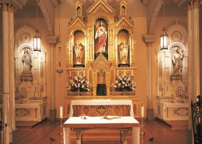 New gilded and marblized altar for St. Peter's Church, Montgomery, AL