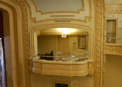 Work in progress at the Mineral Point Opera House, Mineral Point, WI - Photo: Philip Mrozinski