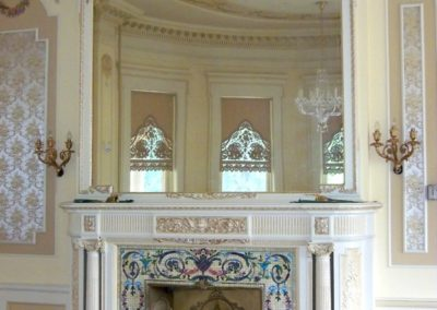 Completed Restoration - Restored parlor at the Bass Mansion, University of Saint Francis, Fort Wayne, Indiana