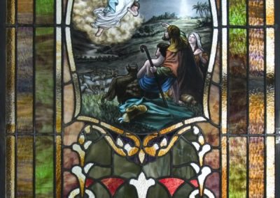 Restored stained glass panel